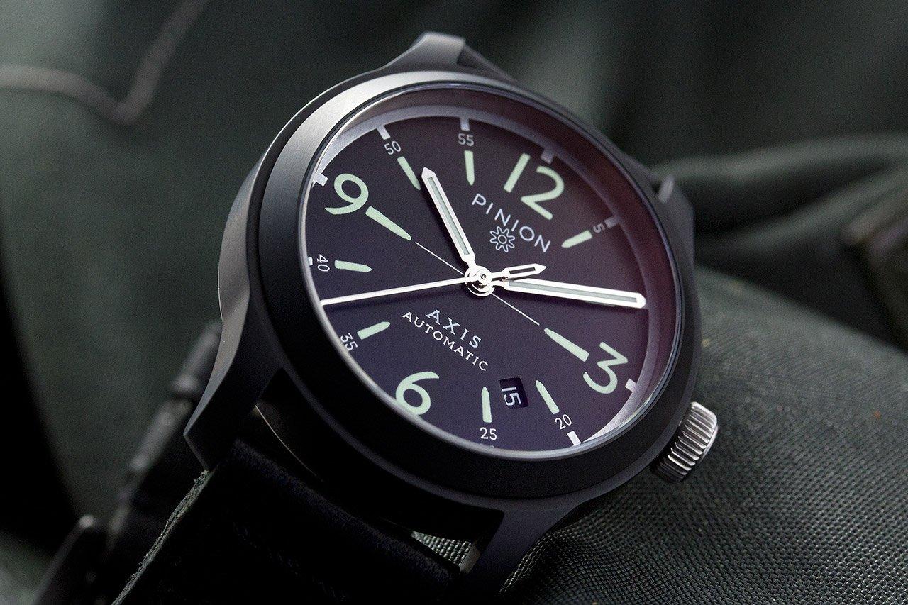 Pinion Axis Black prototype watch