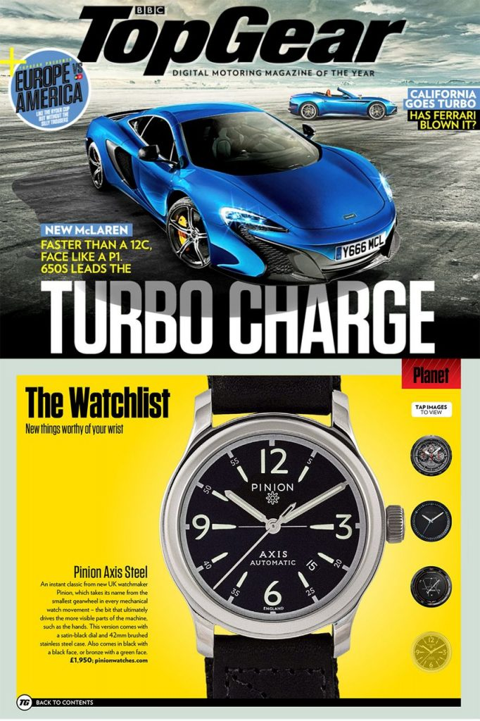 Pinion Axis Watch Top Gear Magazine