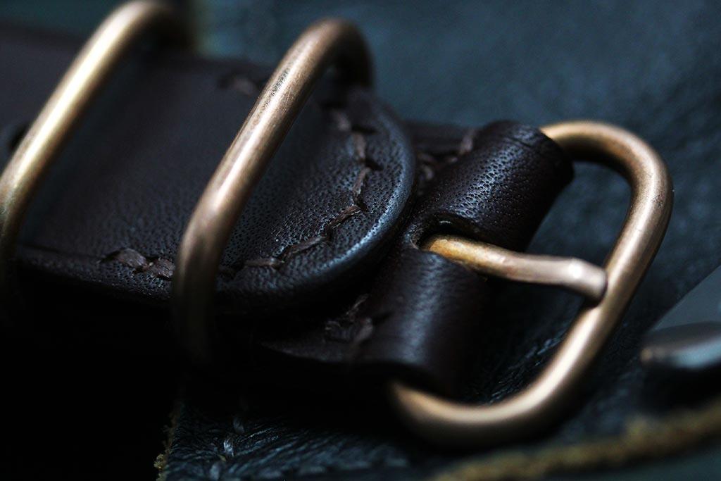 Pinion leather nato watch strap