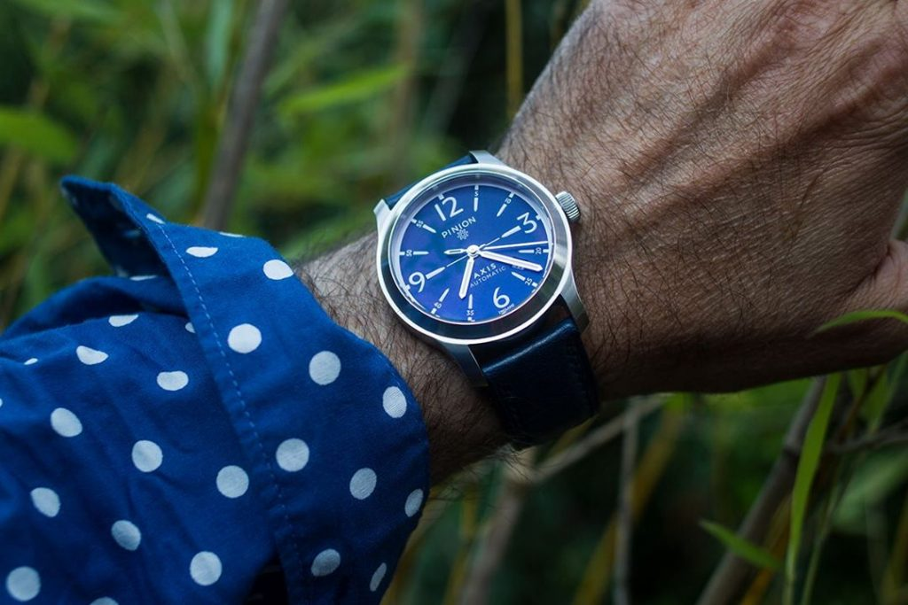 Axis watch blue dial