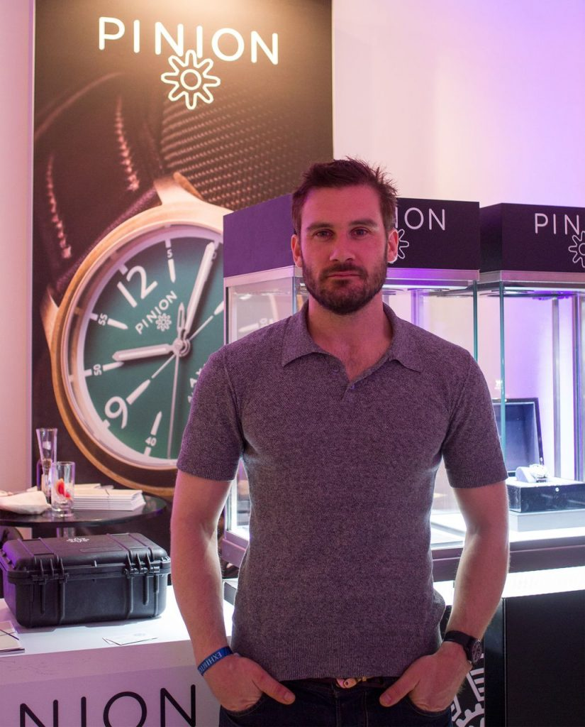 Clive Standen at Pinion Watches stand SalonQP 2014