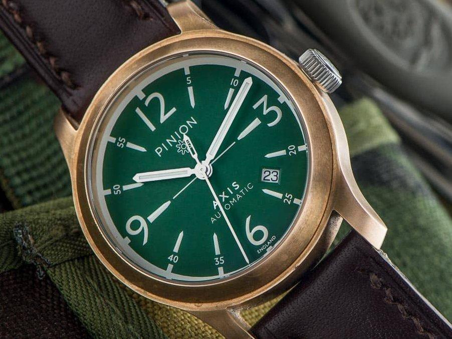 Pinion Axis Bronze watch