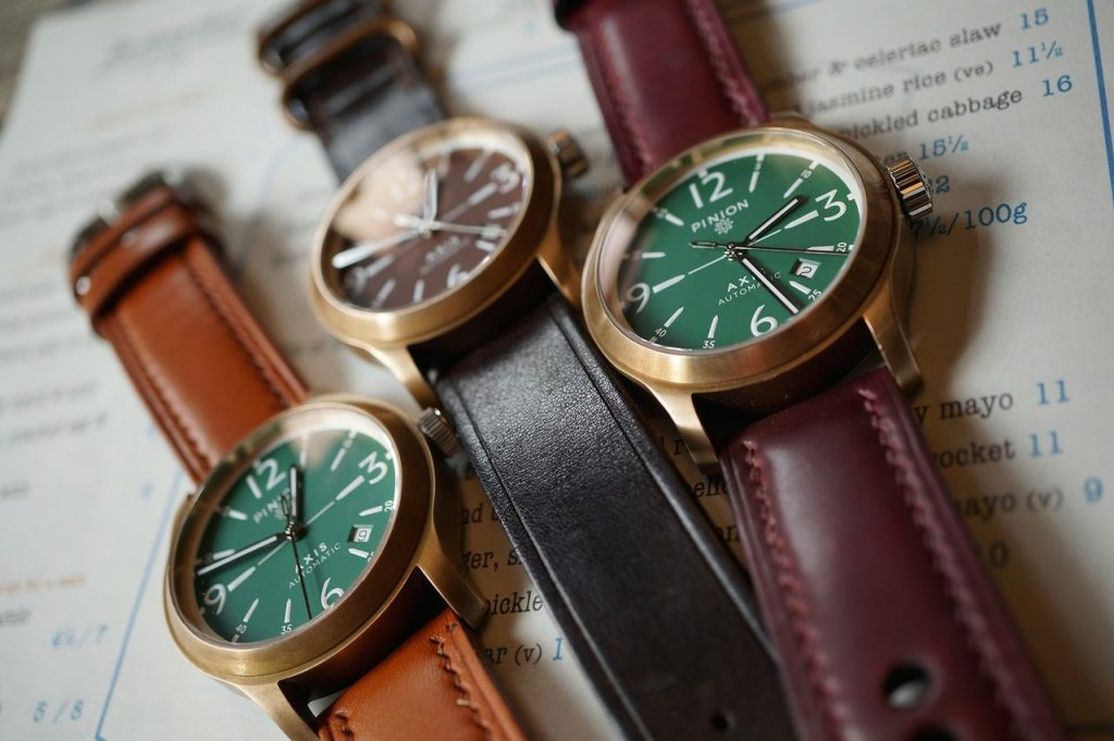 Pinion bronze watch collection