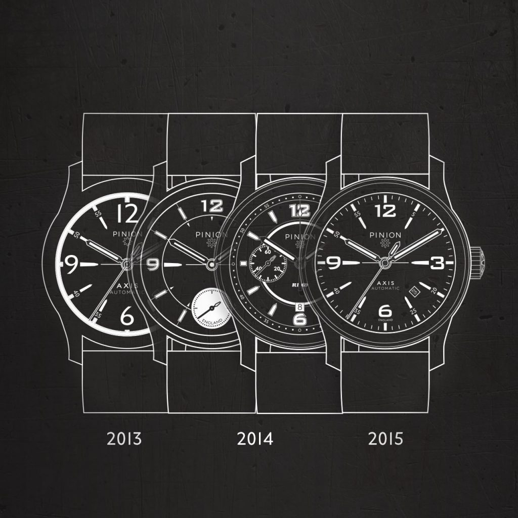Pinion watch design continuity