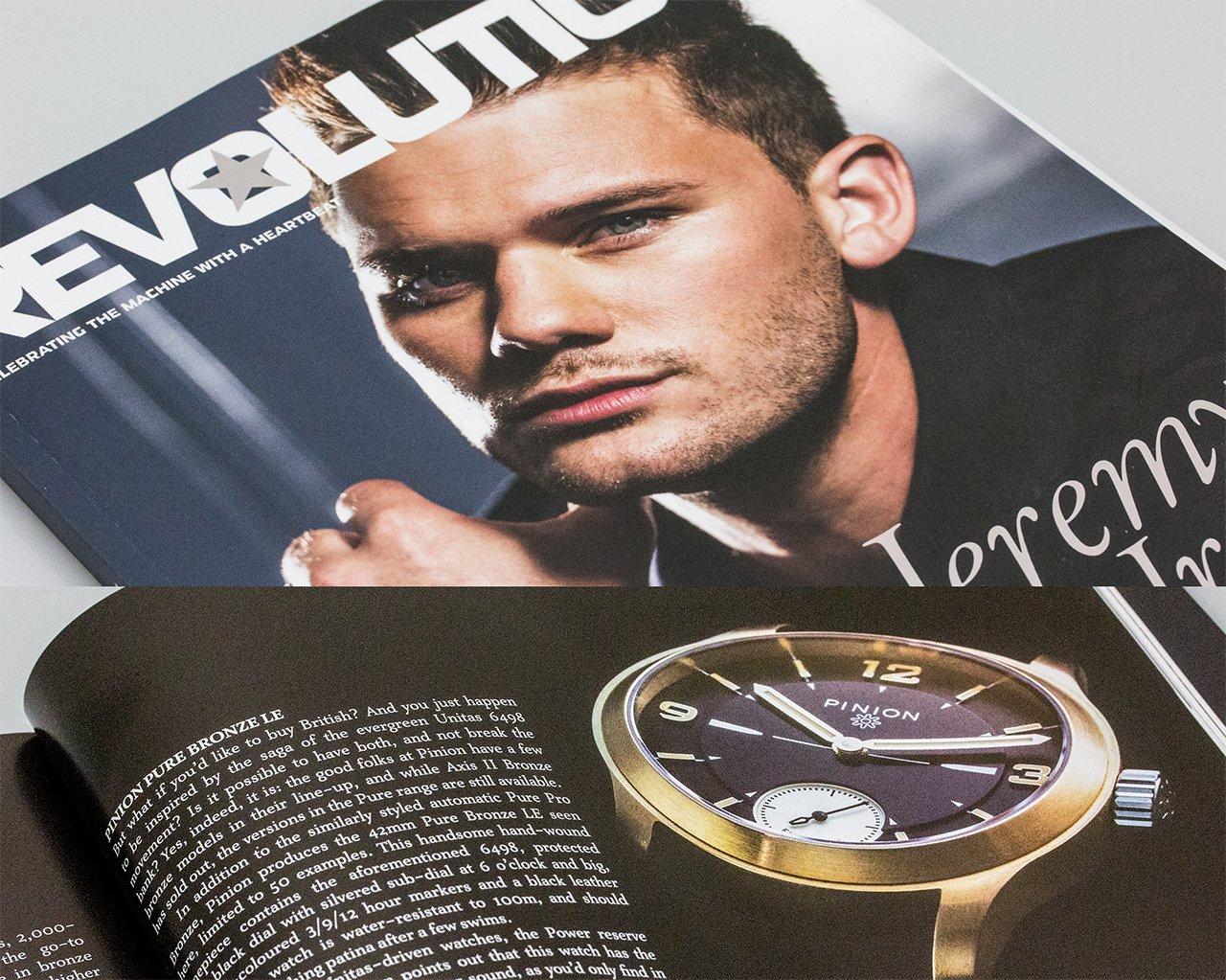 Pinion Revolution Magazine Bronze watches