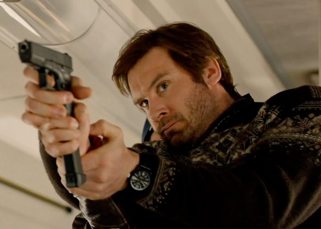Taken TV Show Clive Standen wearing the Pinion Axis II Black watch