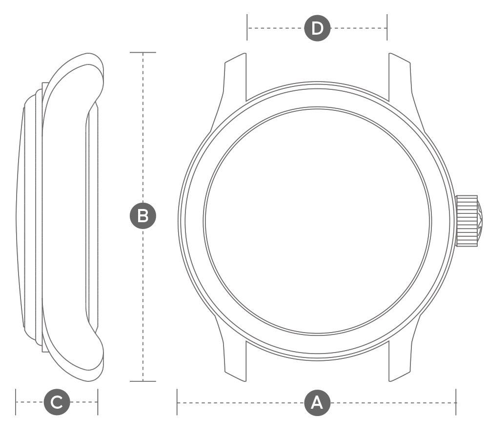 pinion watch measurements
