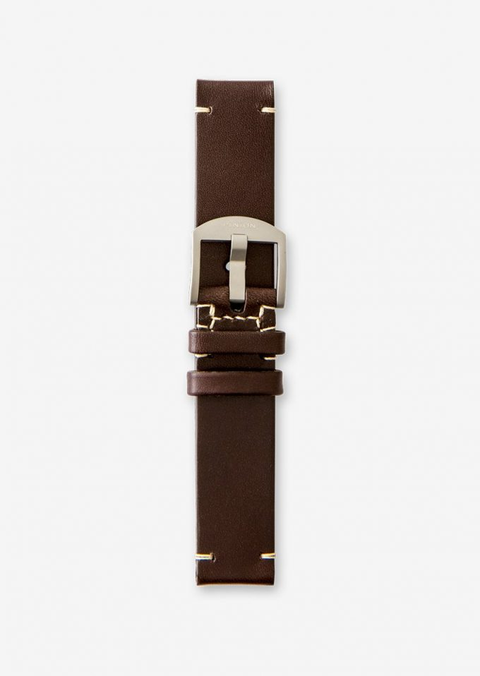 20mm vintage style dark brown watch strap