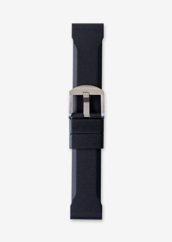 22mm black rubber watch strap
