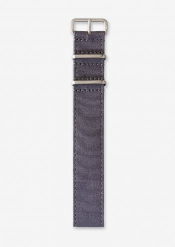 22mm grey blue canvas watch strap