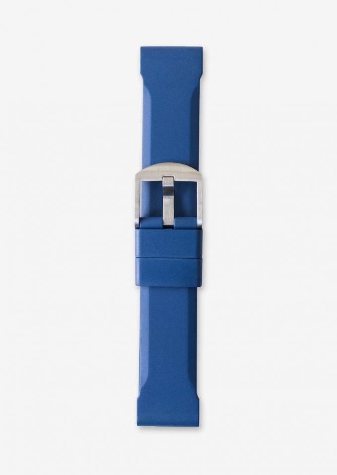 22mm blue rubber watch strap