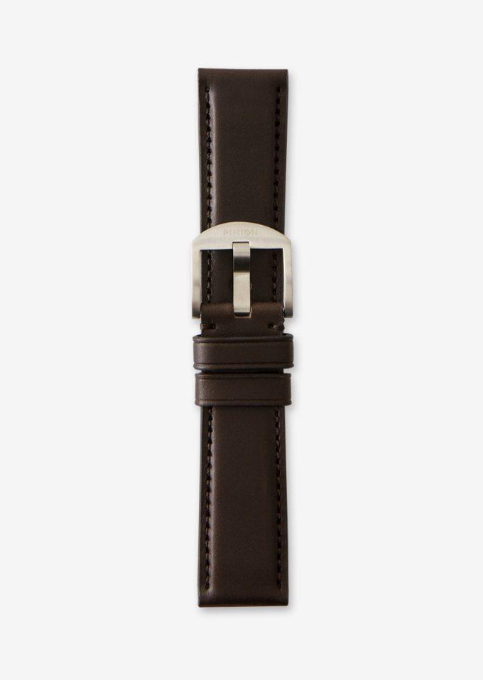 Pinion 22mm dark brown watch strap
