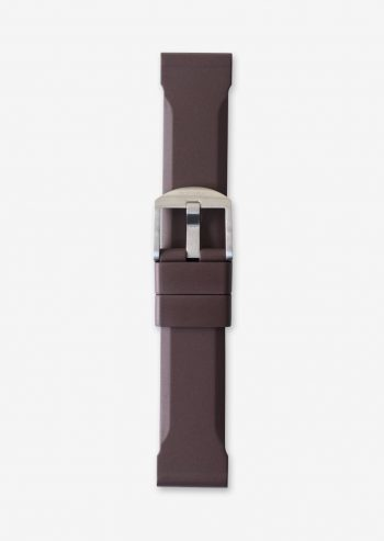 22mm brown rubber watch strap