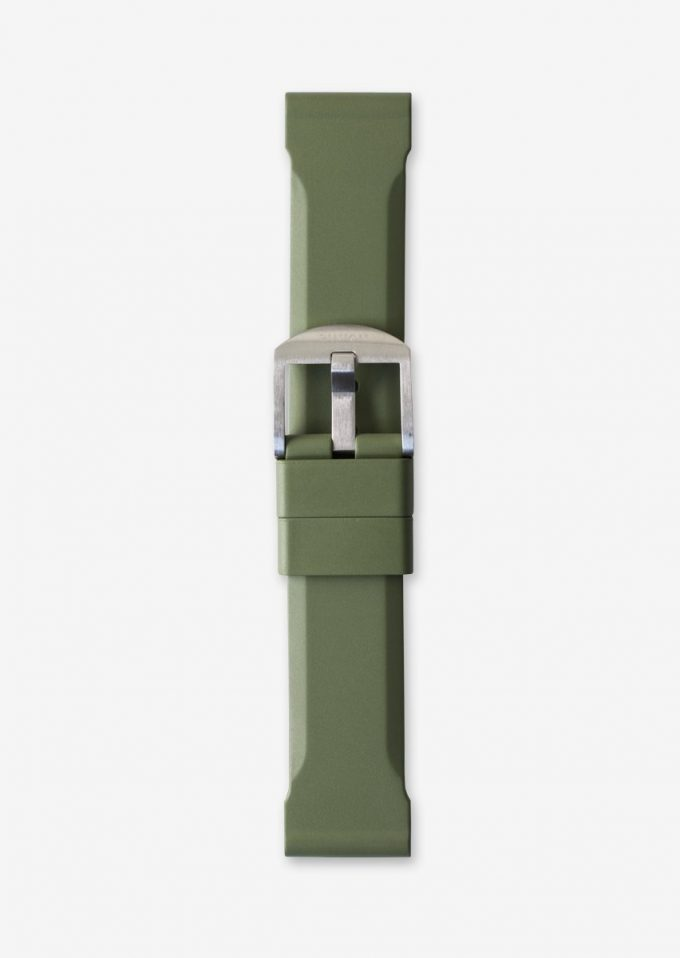 22mm Olive green rubber watch strap