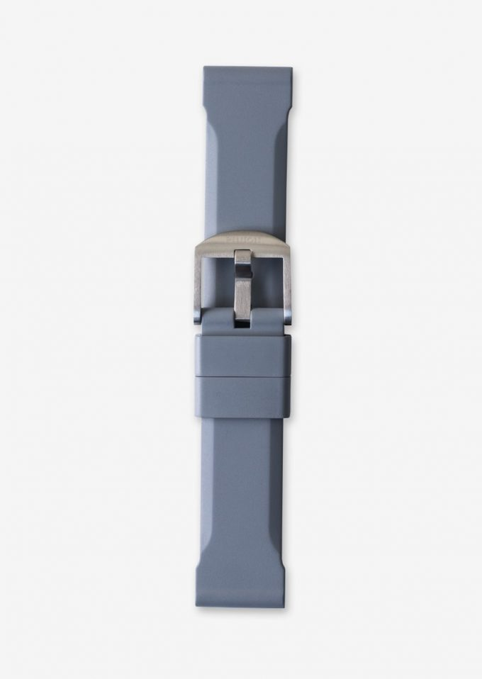 22mm grey rubber watch strap