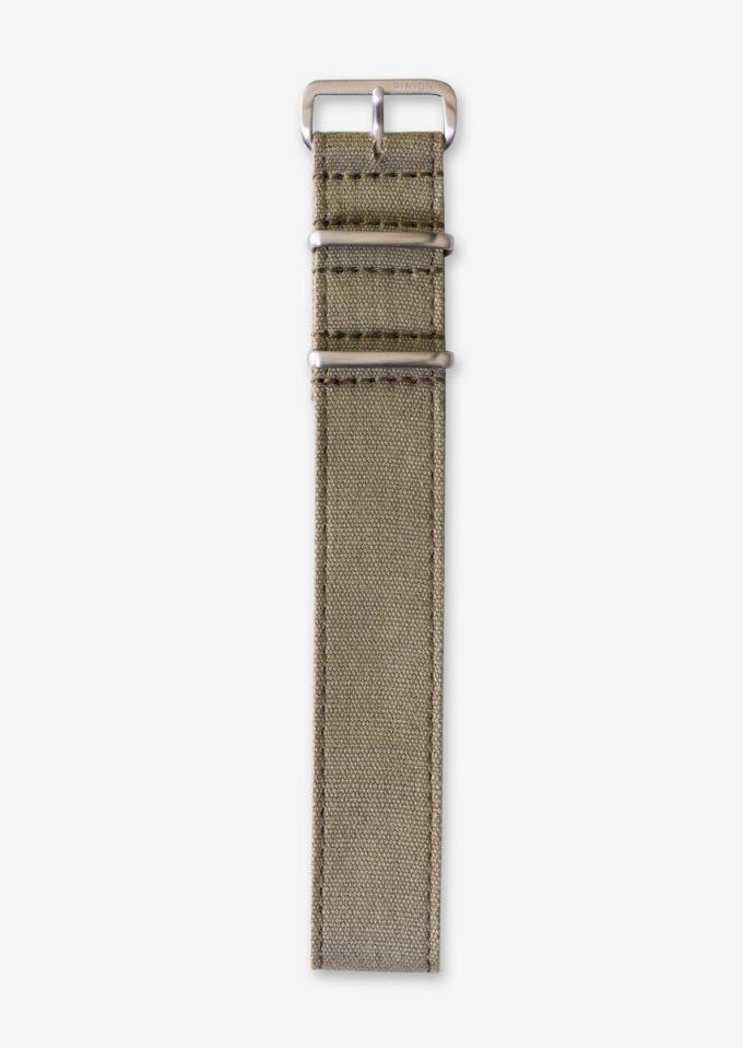 22mm khaki canvas watch strap