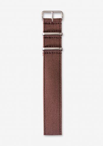22mm rust coloured canvas watch strap