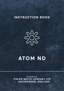 Pinion Atom ND Watch manual