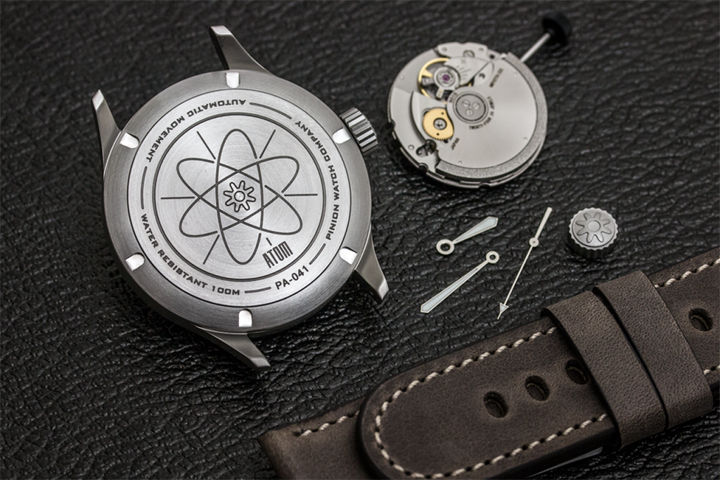Pinion Atom watch components