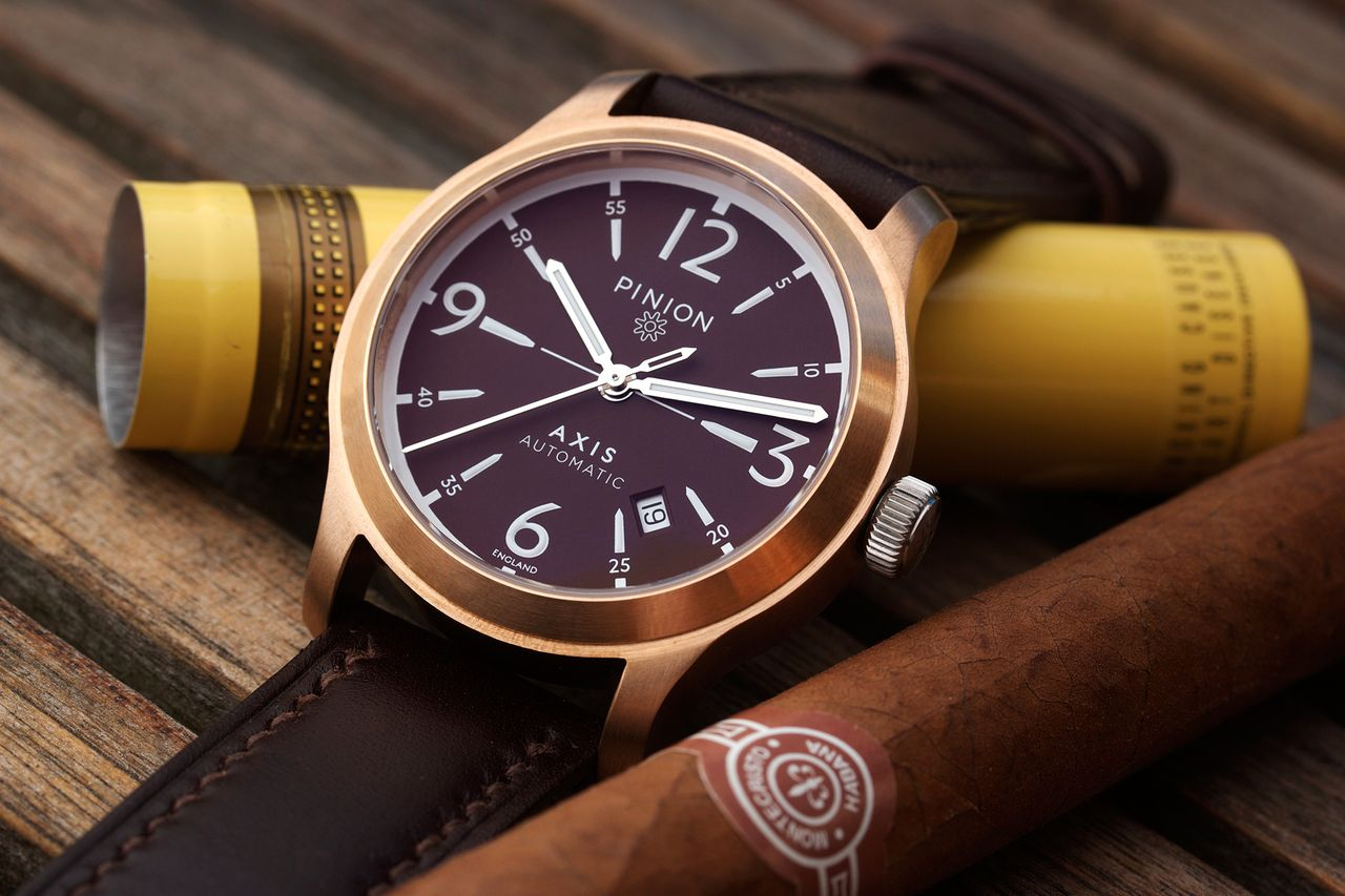 Pinion Axis Bronze Dusk watch