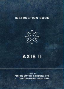 Pinion Axis II watch manual