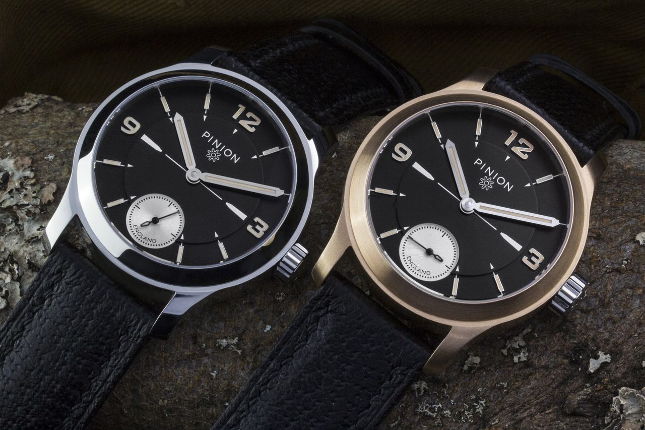 Pinion Pure L.E. Steel and bronze watches hand wound
