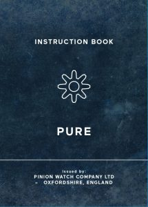 Pinion Pure watch manual