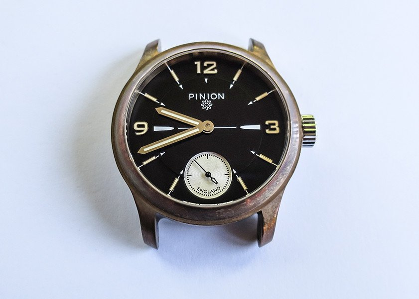 bronze watch with patina