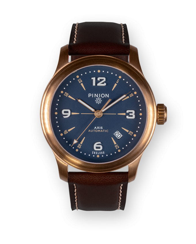Axis II Bronze Watch Blue Dial