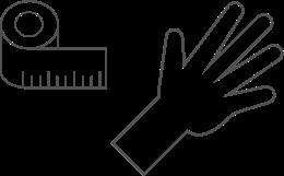 Wrist measurements tape measure