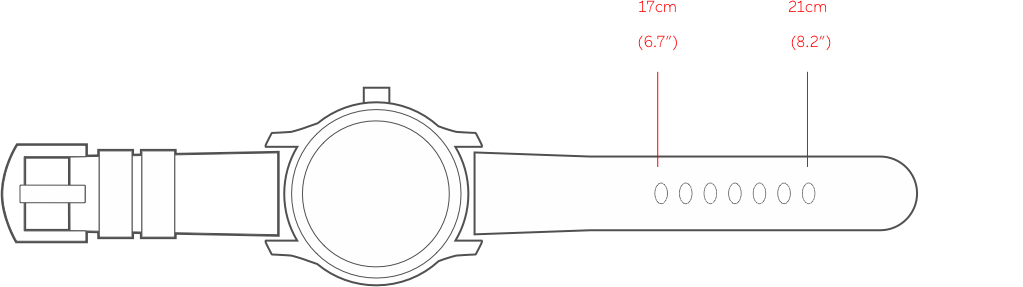 Pinion leather strap - medium size