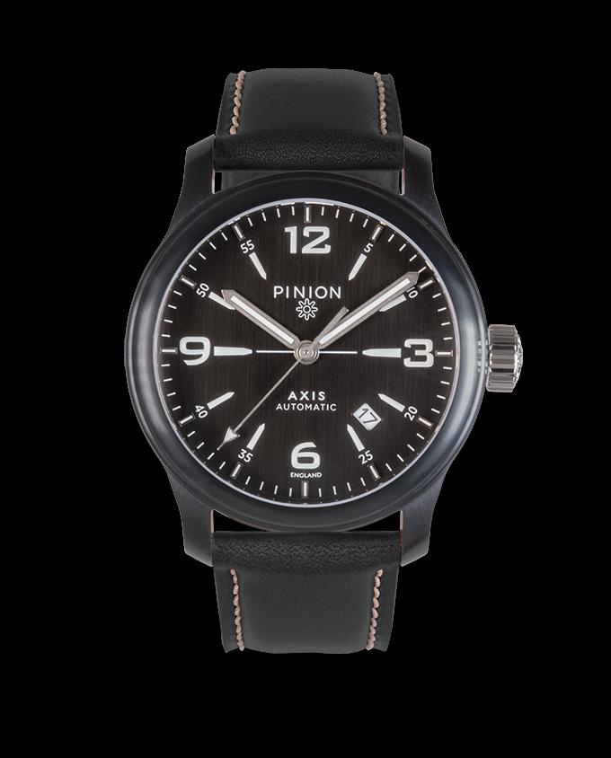 Pinion Axis II Black Watch Black Strap