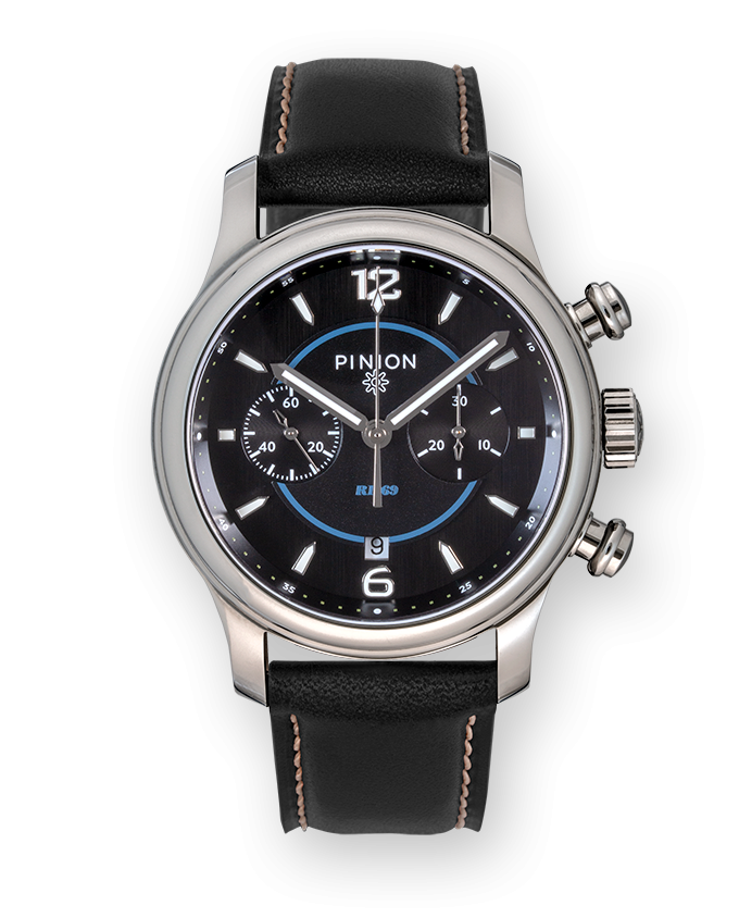 Pinion R1969 Chronograph Watch Black Strap