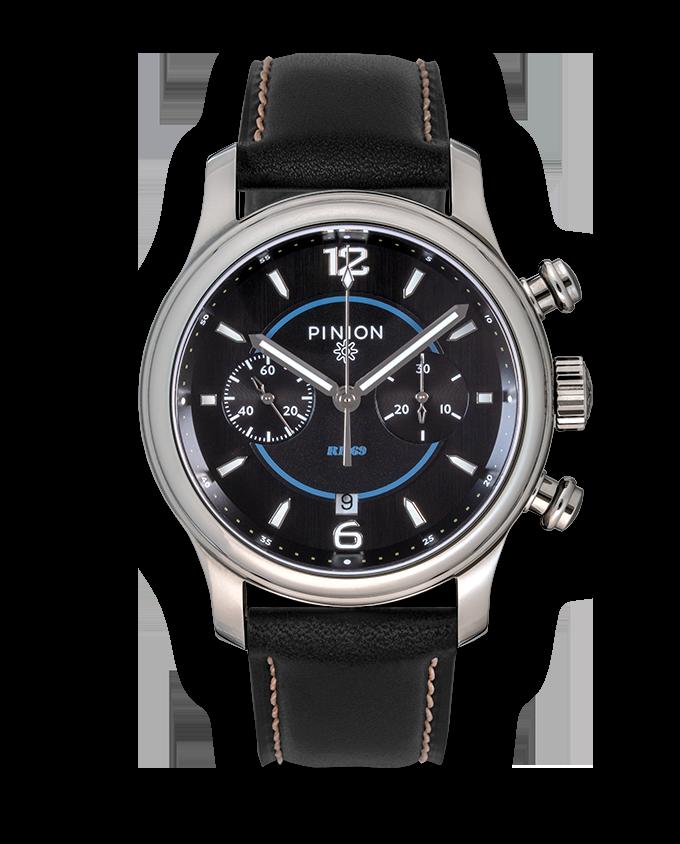 Pinion R1969 Chronograph Watch Black Strap