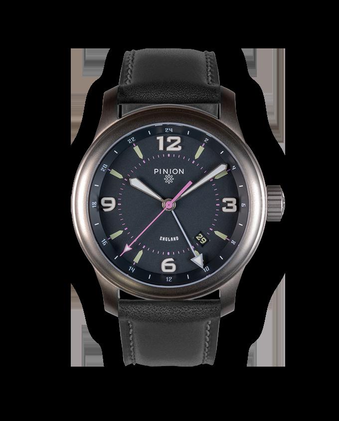Pinion TT Titanium GMT Watch