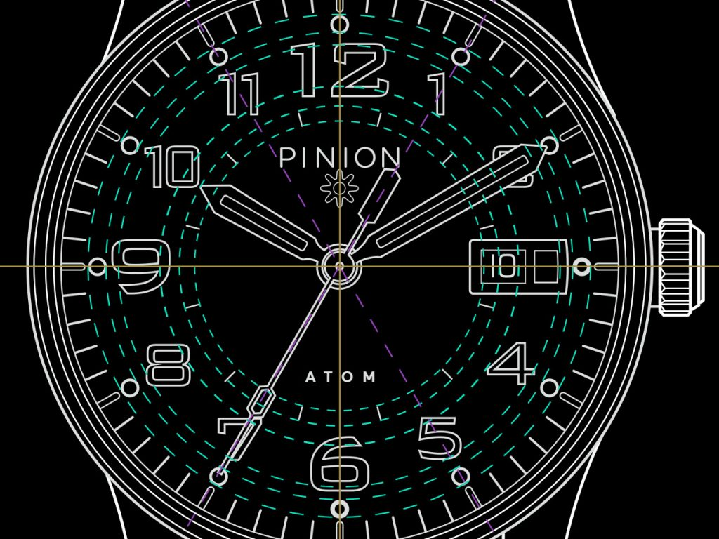Pinion Atom 39 Dial drawing
