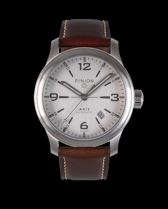 Pinion Axis II Si watch brown strap