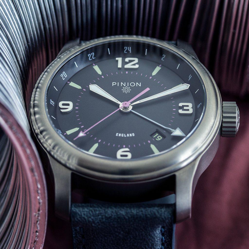 Pinion TT Anthracite Titanium GMT Watch
