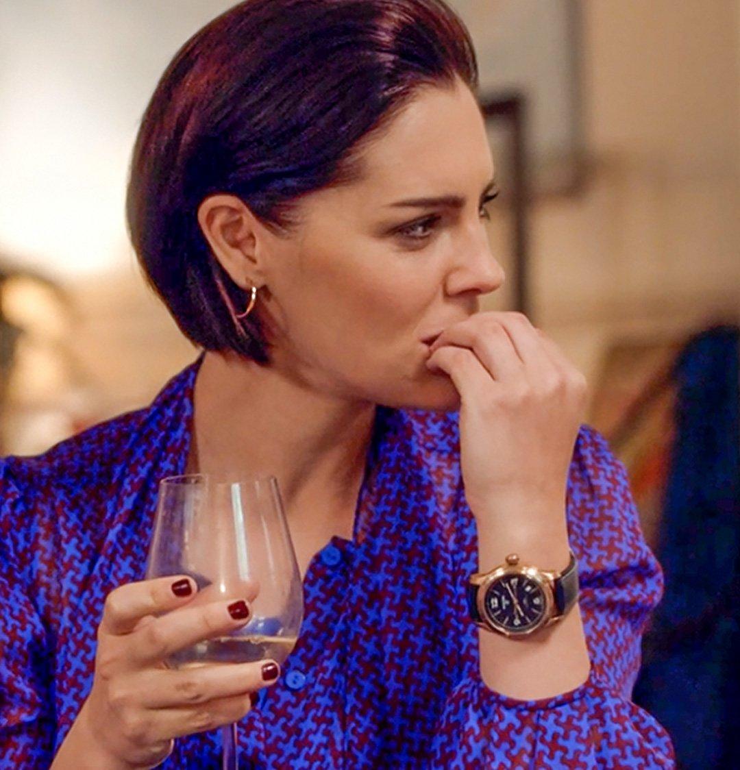 The Split Season 2 - Annabel Scholey wearing the Pinion Axis II Bronze Watch