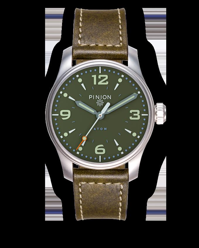 Pinion Atom 39mm ND Green Dial Watch