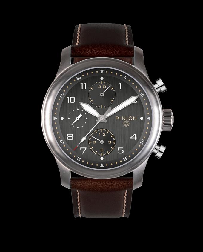 Pinion Elapse Valjoux 7750 Chronograph Anthracite Dial watch