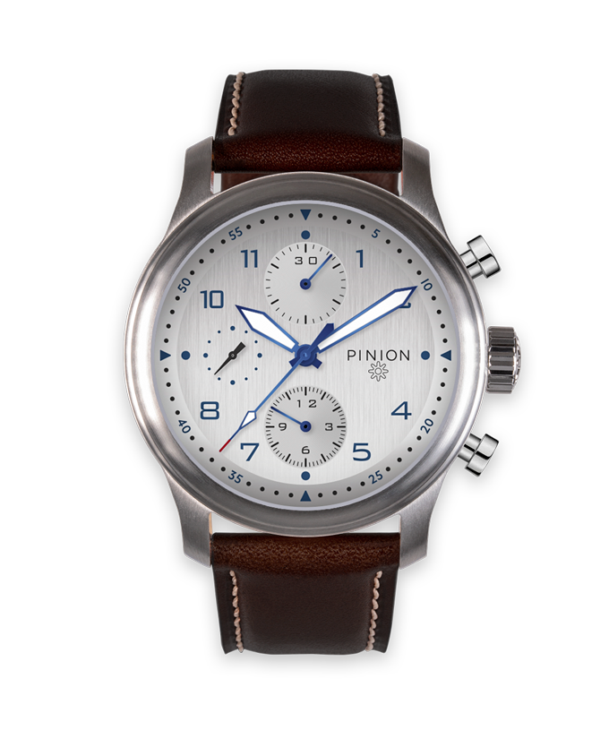 Pinion Elapse Valjoux 7750 Chronograph Silver Dial watch