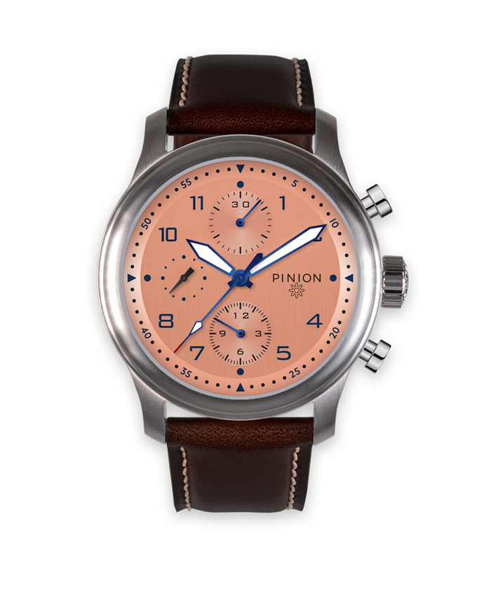 Pinion Elapse Valjoux 7750 Chronograph Salmon Dial watch