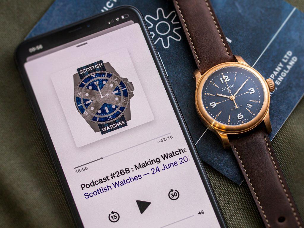 Scottish Watches Podcast with British watch company, Pinion